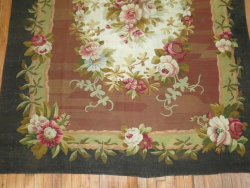 Antique French Aubusson 18th Century Size 5'7''x7'1''