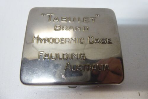 ANTIQUE VETERINARY FAULDING HYPODERMIC NEEDLE IN CASE SCIENCE LABORATORY MEDICAL