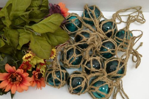 """15 Pcs Turquoise Green Reproduction Glass Float Fishing Buoy Ball 2"""""""