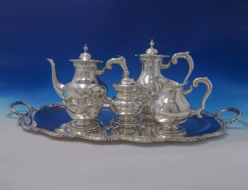 Strasbourg by Unknown Peruvian Sterling Silver Tea Set 5pc with Tray (#5201)
