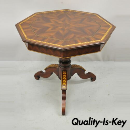 Alfonso Marina Marquetry Inlaid Spanish Sorrentino Occasional Lamp Side Table