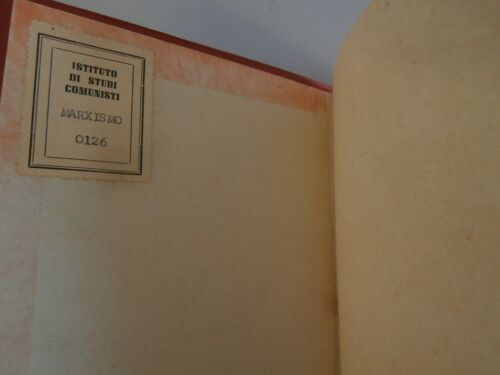 Raro libro Stalin Marxism and the national and colonial question 1947