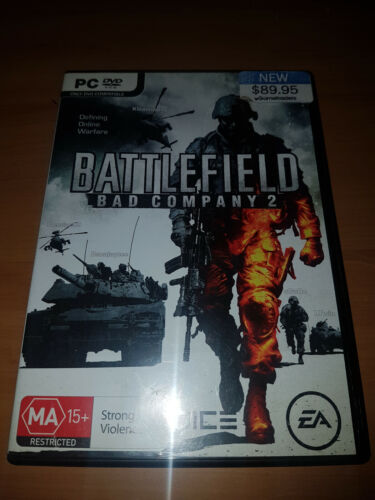 battlefield  bad company 2 pc game complete with case & manual