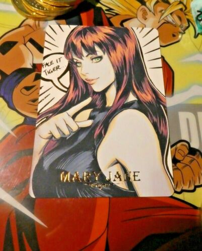 SPIDER-MAN FAN CARD FANCARD GS2 CARDDASS PRISM RARE GOLD CARTE GIRL MARY JANE M