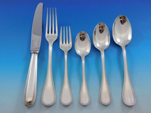 Perles by Christofle France Silverplate Flatware Set for 6 Dinner Service 36 pcs