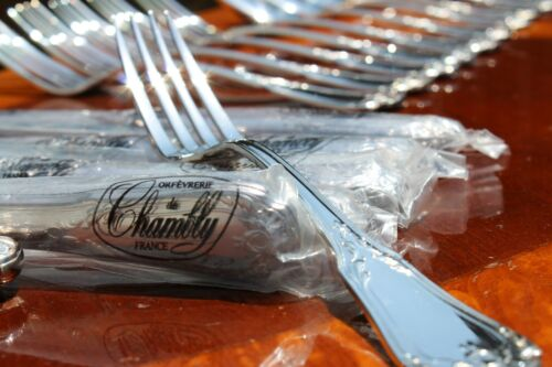 Chambly Empire Silver Plated 24 Pieces Flatware Set in Six Settings