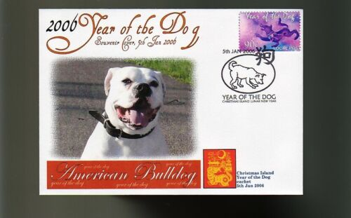 AMERICAN BULLDOG 2006 C/I YEAR OF THE DOG STAMP COVER 2