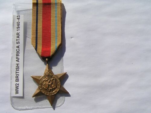 WW2 genuine full size british,anzac 1940-43 africa star medal unnamed.1939 - 1945 (WWII) - 13977