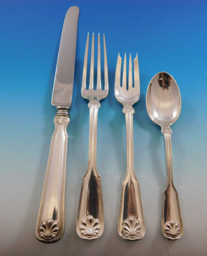 Shell & Thread by Tiffany & Co Sterling Silver Flatware Service Set 32 pc Dinner