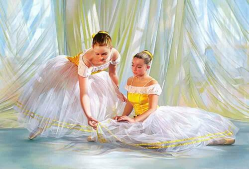 Best Gifts Home Wall Decor Ballet A ballerina Oil Painting Printed On Canvas