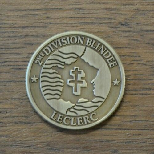COIN MEDAILLE 2 DB GENERAL LECLERC REPLICA D-DAY