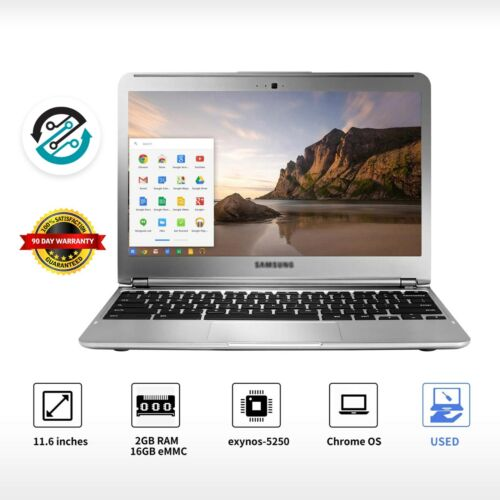 """Samsung Chromebook Laptop 11.6"""" Laptop Intel Dual-Core 16GB SSD Wifi Webcam Cool <br/> 🚩100% Guaranteed, 🚩READY FOR USE, 🚩90 DAYS WARRANTY"""
