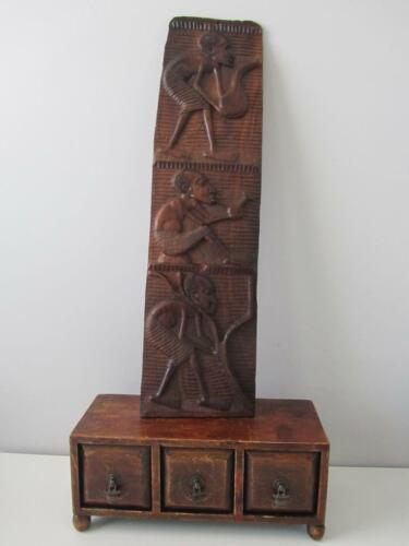 Unique Hand Carved Wooden Tribal Wall Art Hanging Home Decor 63cm