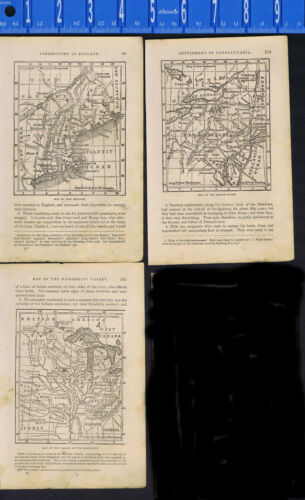 1870 U.S.Maps: New England, Middle States & Mississippi Valley -1870 History