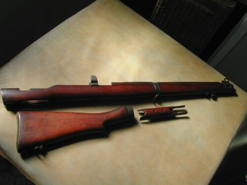 Lithgow SMLE Lee Enfield coachwood stock set1939 - 1945 (WWII) - 13977