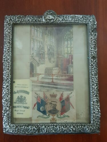Antique Sterling Silver Picture Frame , 240mm by190mm  has a few Mark's silver,