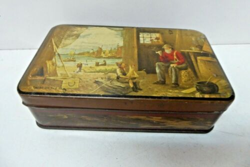 VINTAGE BISCUIT TOFFEE TIN PASCALL SWEETS CLAREMONT TASMANIA TALES OF THE SEA