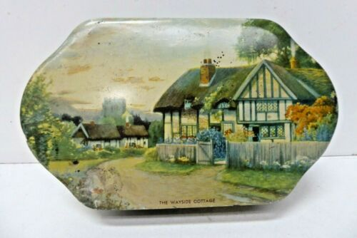 VINTAGE BISCUIT TOFFEE TIN GRIFFITHS HORSFALL RICHMOND MELBOURNE WAYSIDE COTTAGE