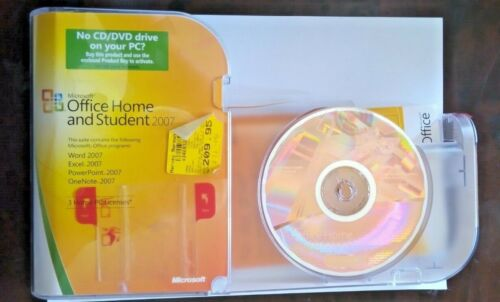 Microsoft Office Home & Student 2007 3 licence hard case Sending from Melbourne