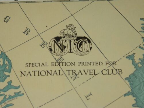 """Vintage Rand McNally Map of Dominion of Canada 28"""" x 19"""" National Travel Club"""