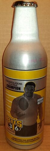 Iron City IC Light Jerome Bettis 12oz aluminum beer bottle Pittsburgh Brewing Co