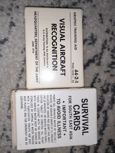 US ARMY survival And Aircraft Recognition Cards Vietnam War Dated 1961 - 1975 (Vietnam) - 36060