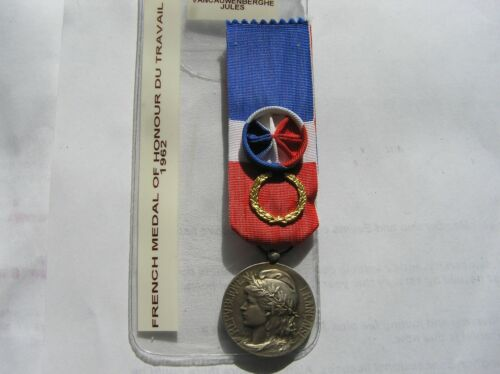 French genuine Medal of Honour for Labour, silver, attributed in 1962.1939 - 1945 (WWII) - 13977
