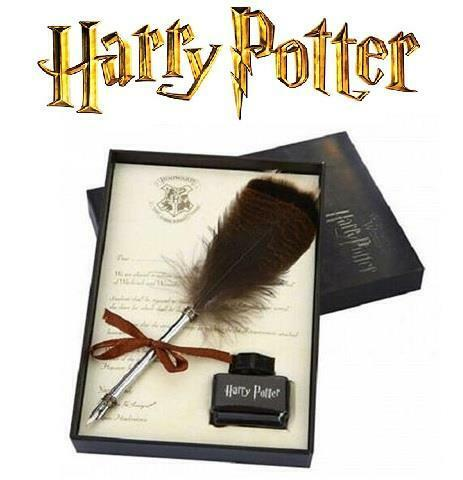 Harry Potter Owl Feather Quill Pen with Ink Calligraphy Writing Gift Set  09