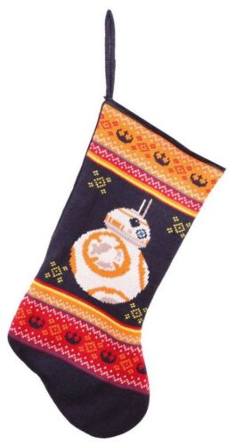 """2016 Star Wars Disney BB-8 Knit Christmas Stocking 20"""" Stockings New with Tag"""