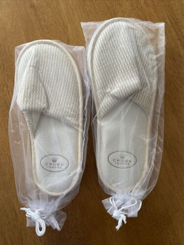 Crown Towers Perth Hotel & Casino Slippers x2 Pairs (Both Different Sizes)