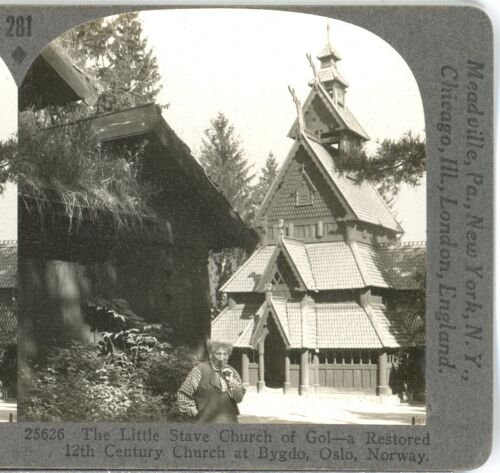 NORWAY, The Little Stave Church--Stereoview #281 Keystone Rare 1200 Card Set