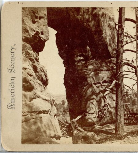 COLORADO, Hole in Sandstone Rock, Monument Park --Am.Scenery Stereoview A19