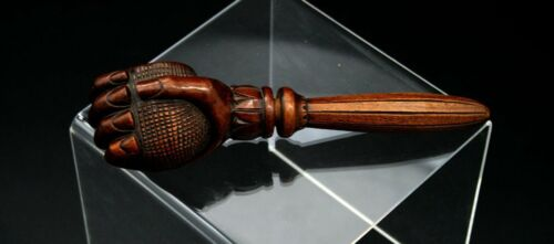 Antique Nutcracker In Carved Wood 19th Century Closed Fist, Hand.