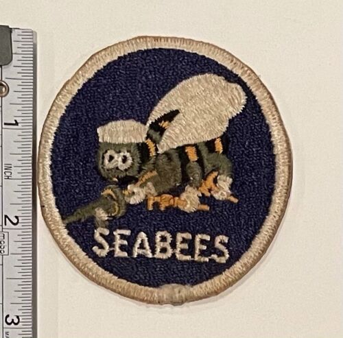 US Navy Patch Seabees (White Border) OLD!