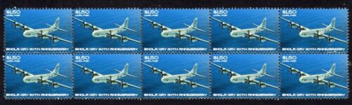 ENOLA GAY 60th ANNIVERSARY STRIP OF 10 MINT VIGNETTE STAMPS 4