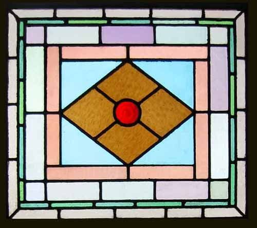 Traditional Antique English Victorian Stained Glass Window