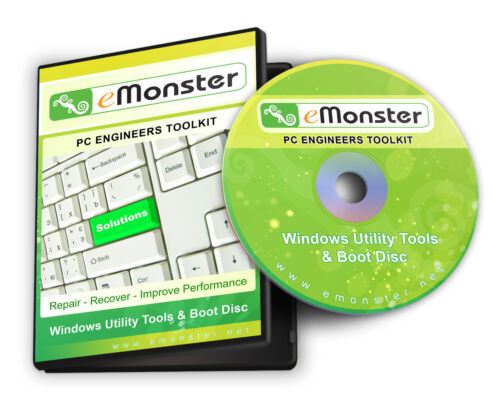 Recovery, Repair, Fix, Utilities & Boot Engineers Disc for Windows XP/Vista/7/8