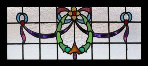 Victorian Floral English Antique Stained Glass Window
