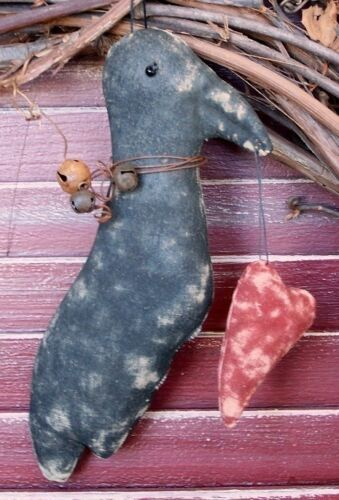 PRIMITIVE CROW VALENTINE EVERYDAY PATTERN MAILED QUICK AND EASY PERFECTLY PRIM