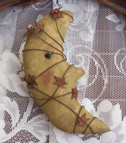 PRIMITIVE HARVEST MOON ORNIE PATTERN MAILED! QUICK AND EASY!! HALLOWEEN OR NOT!!
