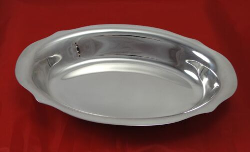 Sterling Silver Scalloped Rim Handle Vegetable Bowl 10""