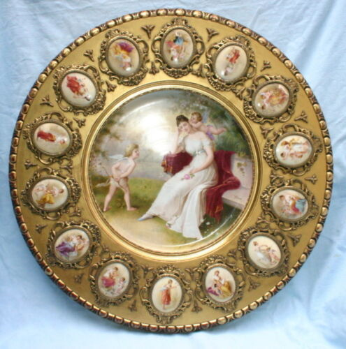 Important Vienna 19th Century  Porcelain Carved Wooden Side Table   MAGNIFICENT