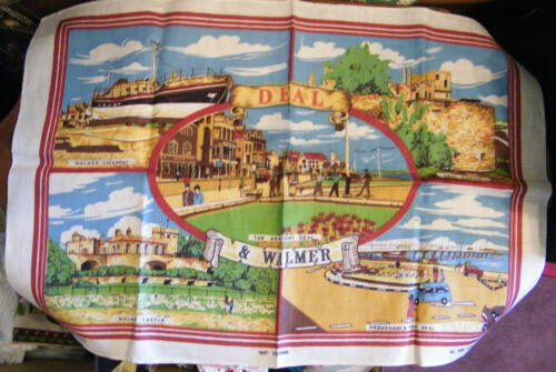 Collectible Pure Linen Made in Ireland Tapestry Cloth Unique Deal & Walmer NICE