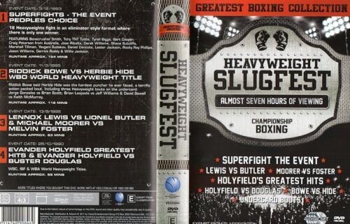 HEAVYWEIGHT SLUGFEST PACK - 4 DISC BOXING DVD SET -ON SPECIAL COLLECTORS EDITION