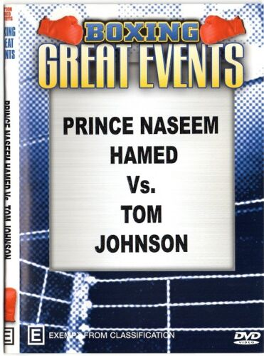 PRINCE NASEEM HAMED VS TOM JOHNSON + TWO UNDERCARD BOUTS BOXING DVD -ON SPECIAL