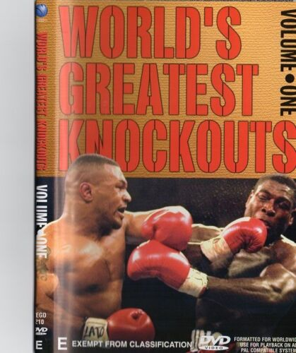 BOXING GREATEST KNOCKOUTS VOL.1 BOXING DVD - ON SPECIAL