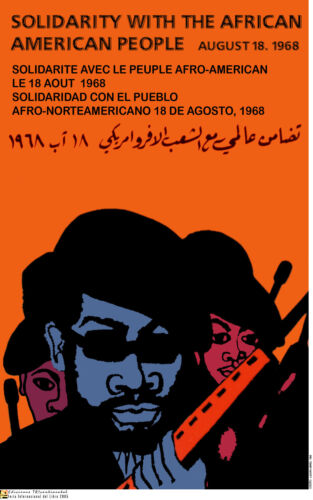Political POSTER.BLACK PANTHER's Bobby Seale am74.OWS.American Civil Rights Art