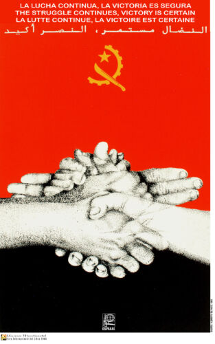 Political OSPAAAL poster.ANGOLA certain Victory.Africa 38.Cold War History art