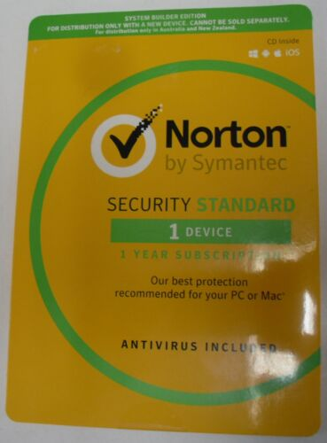Norton Security Standard/AntiVirus  - 1 Year Subscription for 1 PC