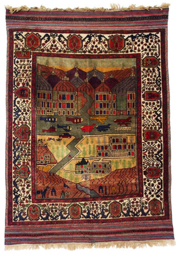 Warrug Mujahedin attacked on Jalalabad city in 1989 Afghan Carpet Kriegteppich